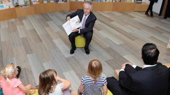The Hon.Malcolm Turnbull, Australia's Prime Minister, reading Possum Magic in a library in Melbourne, November 2015