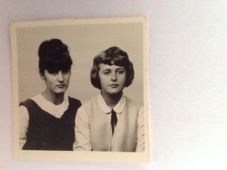 Barbara and me in choir uniforms, Rhodesia (now Zimbabwe) 1964.