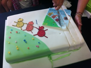 Brilliant Green Sheep cake made by my friend Dorinda Hafner for her grandson's first birthday